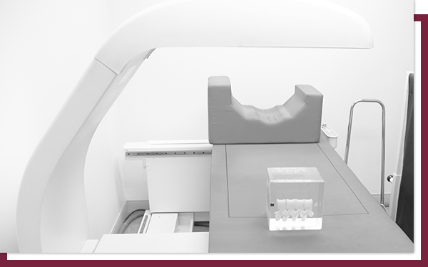 Bone density device table used to perform DEXA scans.